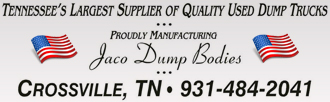 Tennessee's Largest Supplier of Quality Used Dump Trucks, proudly manufacturing Jaco Dump Bodies. Crossville, TN  931-484-2041